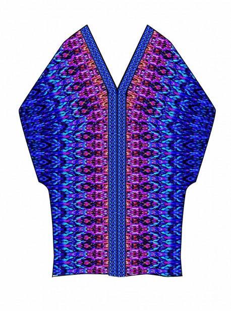 "Caftan Multicolor - Vesuvio - ""M"" - Miraclesuit swimwear"