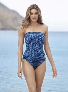 "Maillot de bain gainant Gaia Bleu - Secret Sanskrit - ""M"" - Miraclesuit swimwear"