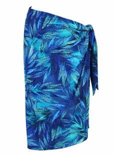 "Pareo Long Sarong Bleu - Best Fronds Ever - ""M"" - Miraclesuit swimwear"