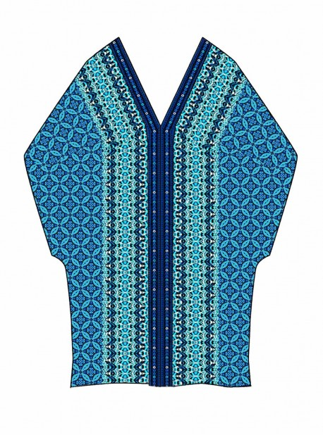 "Caftan Bleu - Mosaica - ""M"" -Miraclesuit Swimwear"