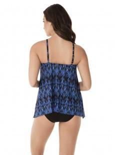 """Peephole Tankini Top Multicolor - Vesuvio - """"W"""" - Miraclesuit Swimwear"""