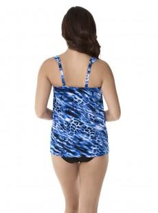 "Dazzle Tankini Top Bleu - Lynx Lazuli - ""FC"" - Miraclesuit Swimwear"