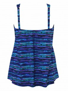 "Mirage Tankini Top Bleu - Secret Sanskrit - ""FC"" - Miraclesuit Swimwear"