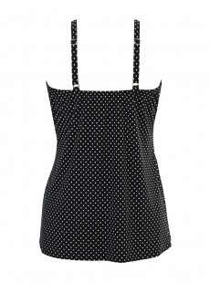 "Love Knot Tankini Top Noir et Blanc - Pin Point - ""FC"" - Miraclesuit Swimwear"