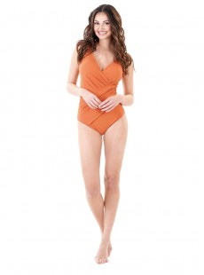 Maillot de bain sculptant 1 pièce Mirabasic Athena - Orange - Miradonna
