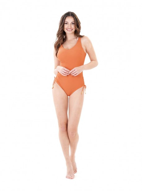 Maillot de bain sculptant 1 pièce Mirabasic Diana Laces - Orange - Miradonna