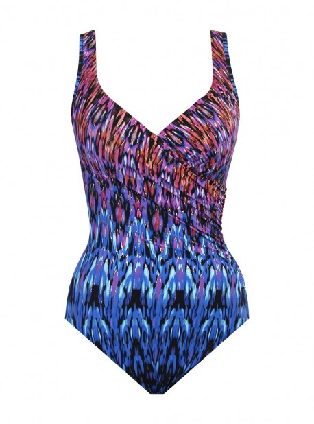 """Maillot de bain gainant It's A Wrap Multicolor - Vesuvio - """"FC"""" -Miraclesuit Swimwear"""