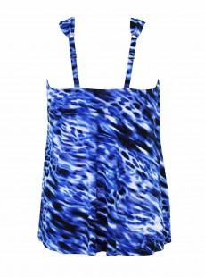 "Tankini Dazzle Imprimé bleu - Lynx Lazuli - "" W "" - Miraclesuit Swimwear"