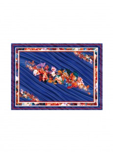 Paréo - Blue Flowers Sarong