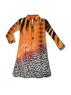 Robe chemise - Afrikan Animalier Camisole Serafin - Miradonna