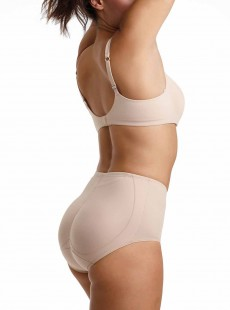 Culotte push-up gainante mi-haute Nude - Booty Boost - Miraclesuit Shapewear