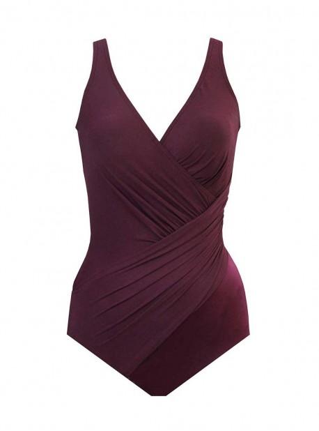 "Maillot de bain gainant Oceanus Bordeaux - Must haves -  ""M"" -Miraclesuit Swimwear"
