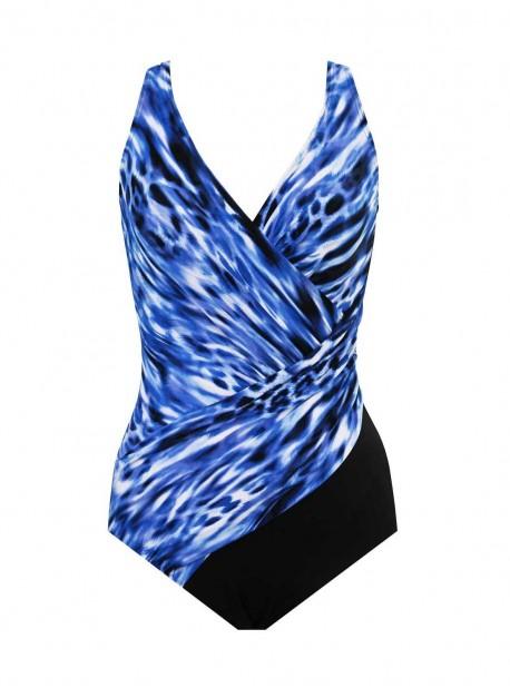 "Maillot de bain gainant Oceanus Bleu - Lynx Lazuli - ""FC"" -Miraclesuit Swimwear"