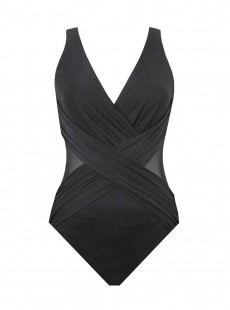 "Maillot de bain gainant Crossover Noir - Illustionists - ""M"" - Miraclesuit Swimwear"