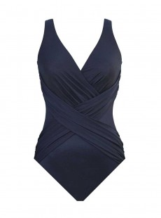 "Maillot de bain gainant Crossover Bleu Nuit - Illusionists - ""W"" -Miraclesuit Swimwear"