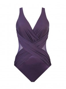 """Maillot de bain gainant Crossover Prune - Illusionists - """"M"""" - Miraclesuit swimwear"""