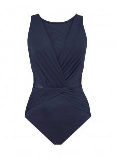 "Maillot de bain gainant Palma Bleu nuit - Illustionists - ""M"" - Miraclesuit Swimwear"