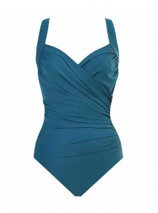 "Maillot de bain gainant Sanibel Bleu Canard - Must Haves - ""FC"" -Miraclesuit Swimwear"