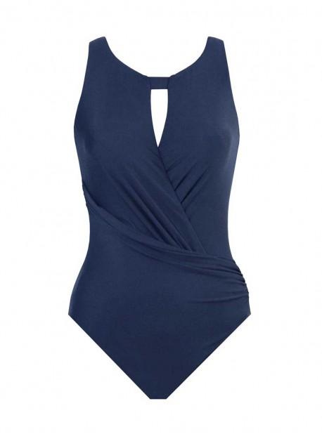 """Maillot de bain 1 pièce gainant Arden bleu - Rock Solid - """" M """" - Miraclesuit Swimwear"""