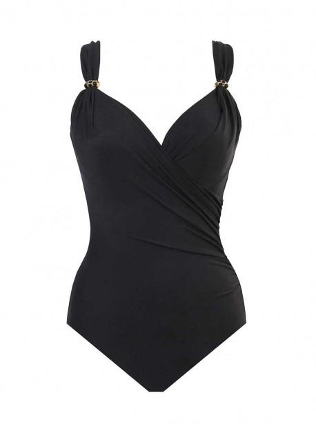"""Maillot de bain gainant Siren Noir -Razzle Dazzle -  """"M"""" -Miraclesuit Swimwear"""