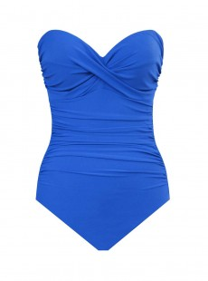 "Maillot de bain gainant Madrid Bleu - Rock Solid - ""M"" - Miraclesuit Swimwear"