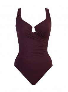 "Maillot de bain gainant Escape Bordeaux - Must haves -  ""M"" -Miraclesuit Swimwear"