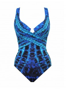 "Maillot de bain gainant Criss Cross Escape Multicolor - The Beach Goes On - ""M"" - Miraclesuit swimwear"