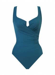 "Maillot de bain gainant Escape Bleu Canard - Must Haves - ""W"" -Miraclesuit Swimwear)"