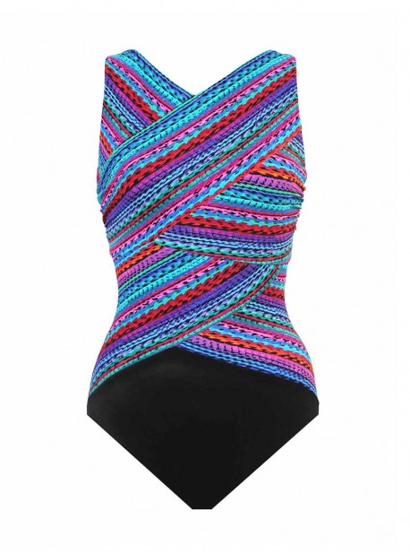 """Maillot de bain gainant Brio Multicolor - Carnivale - """"FC"""" -Miraclesuit Swimwear"""