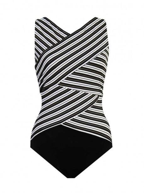 "Maillot de bain gainant Brio  - Mayan Stripe - ""M"" - Miraclesuit swimwear"