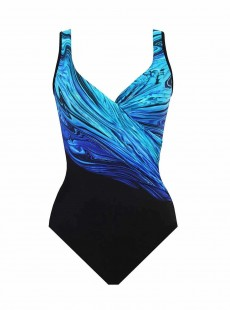 "Maillot de bain gainant It's a Wrap - Blue Pointe -""M"" -Miraclesuit Swimwear"
