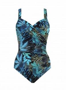 """Maillot de bain 1 pièce gainant Seraphina imprimé fleuris bleu - Paradiso - """" M """" - Miraclesuit Swimwear"""