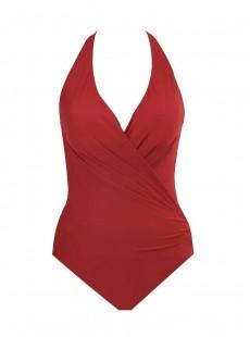 "Maillot de bain 1 pièce gainante Wrapsody rouge - Rock Solid - "" M "" - Miraclesuit Swimwear"