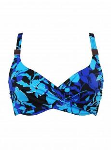 "Haut de maillot de bain Surplice Bleu- Petal Play - ""M"" - Miraclesuit Swimwear"