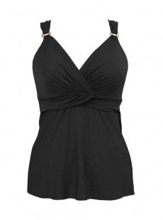 "Tankini plongeant Noir - Solid -  ""M"" -Miraclesuit Swimwear"