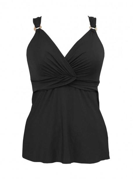 "Tankini plongeant Noir - Solid -  ""M"" - Miraclesuit Swimwear"