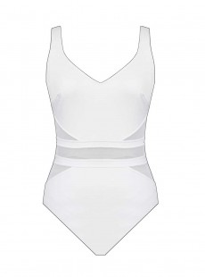 "Maillot de bain gainant It's a Cinch Blanc - Illusionists - ""M"" - Miraclesuit swimwear"