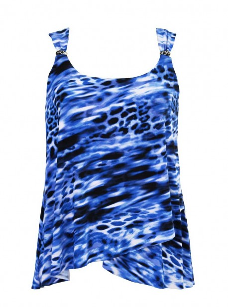 "Tankini Dazzle Imprimé bleu - Lynx Lazuli - "" M "" - Miraclesuit Swimwear"