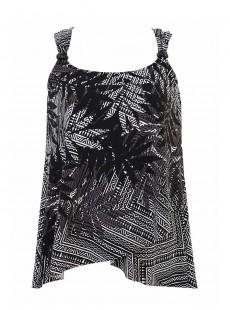 """Dazzle Tankini imprimé noir et blanc - Tulum Treasures - """" M """" - Miraclesuit Swimwear"""