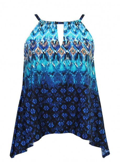 "Tankini Peephole - Sunset cay - ""M"" - Miraclesuit Swimwear"