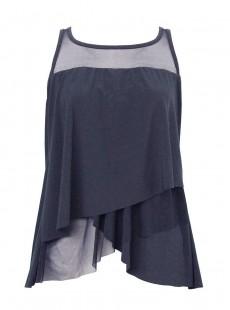 "Tankini Mirage bleu nuit - Illustionists - ""M"" -Miraclesuit Swimwear"