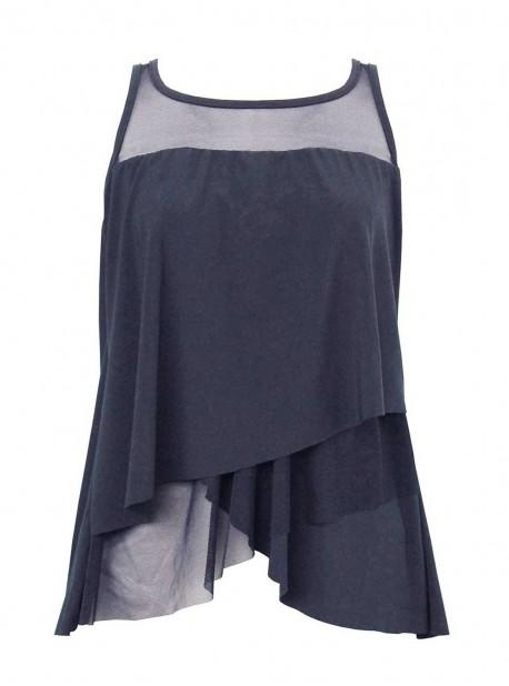 "Tankini Mirage bleu nuit - Illustionists - ""M"" - Miraclesuit Swimwear"