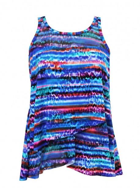 "Tankini Mirage - Animal Spectrum- ""M"" - Miraclesuit Swimwear"