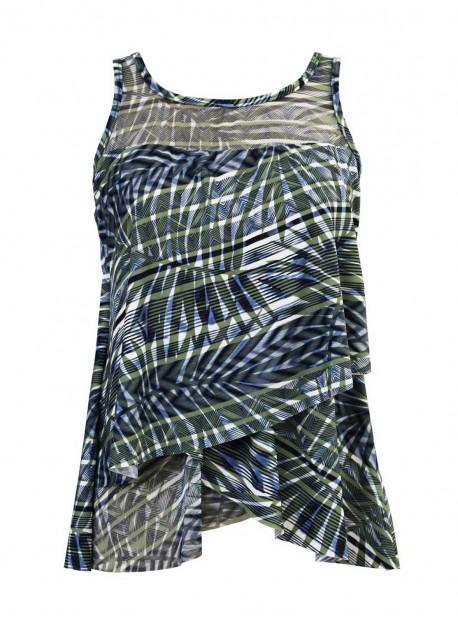 "Tankini Mirage imprimé vert - Monteverde - "" M "" - Miraclesuit Swimwear"
