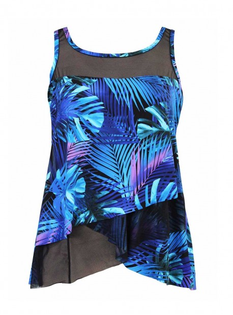 "Tankini Mirage bleu - Royal Palms - ""M"" - Miraclesuit Swimwear"