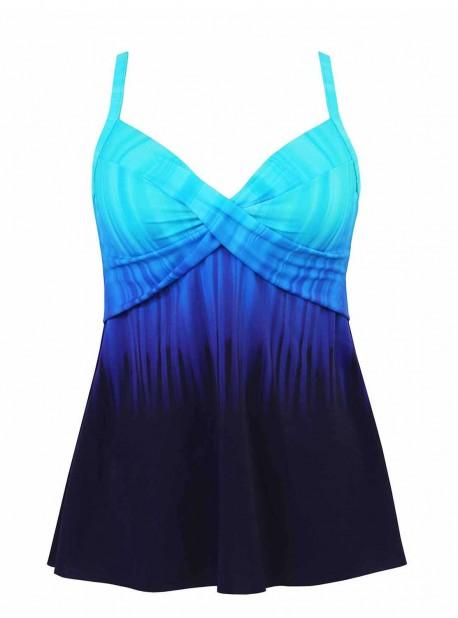 """Myrra Tankini Top Twilight - Belle Trois Twilight - """"M"""" - Miraclesuit swimwear"""