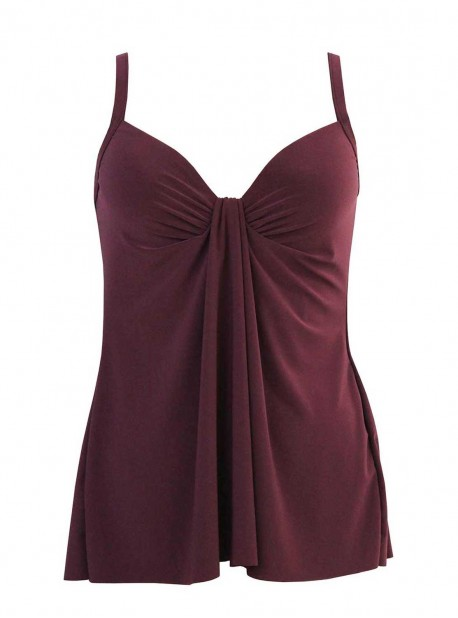 "Tankini Marina bordeaux - So Riche - ""M"" - Miraclesuit swimwear"