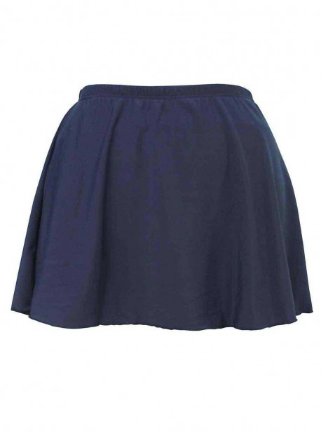 "Jupe de bain Skirted Pant Bleu - Solid Bottoms - "" M "" - Miraclesuit Swimwear"