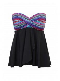 "Cadiz Tankini Top Multicolor - Carnivale - ""M"" - Miraclesuit swimwear"