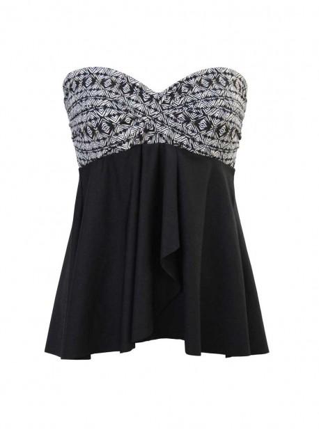 "Tankini Cadiz Noir / Blanc - Incan Treasure - "" M "" - Miraclesuit Swimwear"